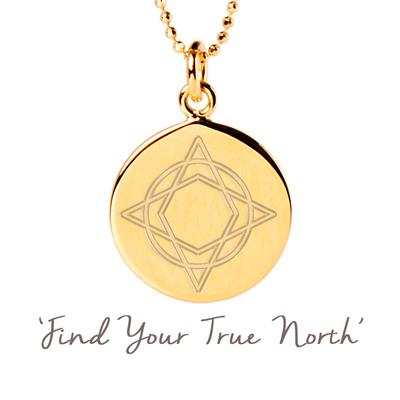 Buy Mantra Wanderlust True North Disc Necklace in Gold