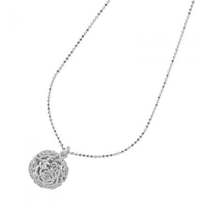 Buy Dower and Hall Silver Wild Rose Sphere Necklace