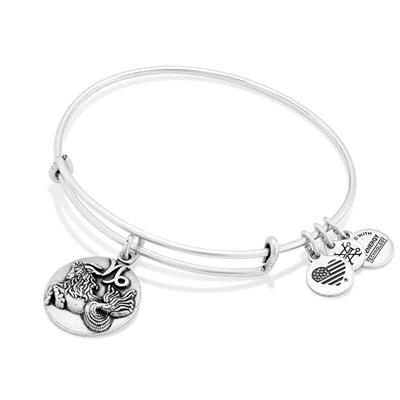 Buy Alex and Ani Capricorn Disc Bangle in Rafaelian Silver Finish