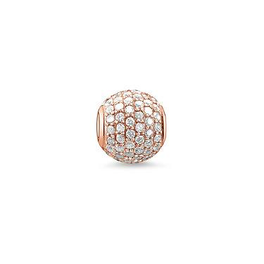 Buy Thomas Sabo Rose Gold Pave Karma Bead