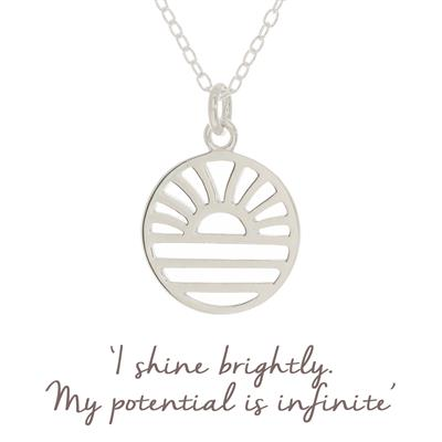 Buy Mantra Samantha Hearne Sun Rising Necklace in Sterling Silver