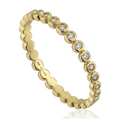 Buy Ania Haie Touch of Sparkle Gold Plated CZ Band Ring (50)