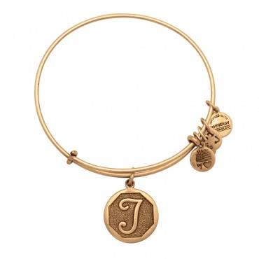 Buy Alex and Ani T Initial Bangle in Rafaelian Gold