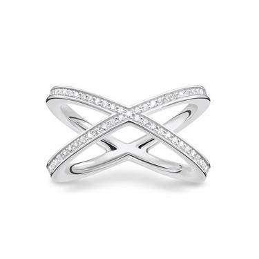 Buy Thomas Sabo Cross CZ Ring Sterling Silver Size 56