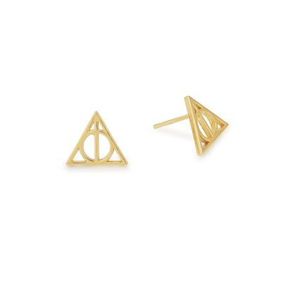 Buy Alex and Ani Harry Potter Deathly Hallows Precious Earrings in Gold