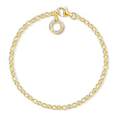 Buy Thomas Sabo Gold Thin Charm Bracelet 18.5cm
