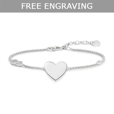 Buy Thomas Sabo CZ Infinity Heart Love Bridge Bracelet 19.5cm