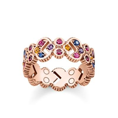 Buy Thomas Sabo Royalty Wide Ring Rose-Gold Plated Size 52