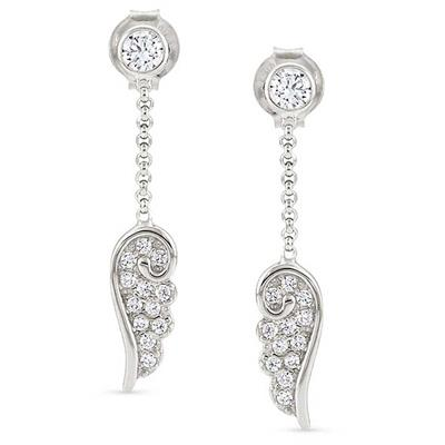 Buy Nomination CZ Angel Wing Drop Earrings