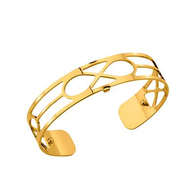 Buy Les Georgettes Slim Gold Infinity Cuff Bangle