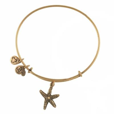 Buy Alex and Ani Star Fish in Rafaelian Gold Finish
