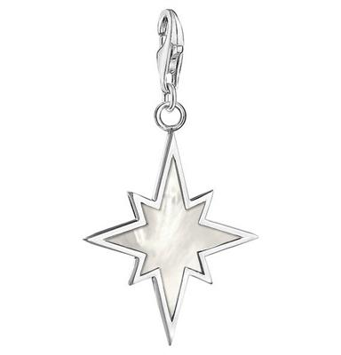Buy Thomas Sabo Silver Mother of Pearl North Star Charm