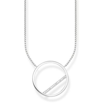 Buy Thomas Sabo CZ Circle Necklace 45cm