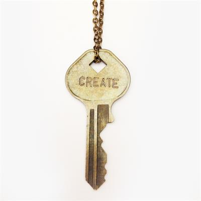 "Buy Giving Keys CREATE Classic Brass 27"" Key Necklace"