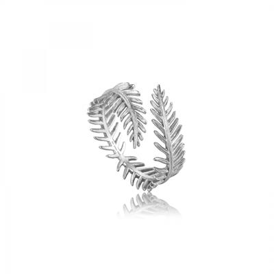 Buy Ania Haie Silver Palm Leaf Tropic Thunder Adjustable Ring