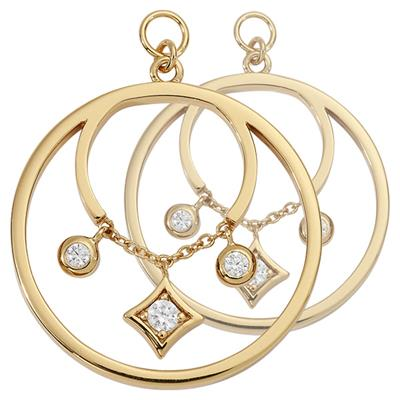 Buy Nikki Lissoni Gold CZ Elegance 23mm Earring Coins