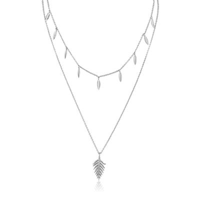 Buy Ania Haie Tropic Thunder Sterling Silver Double Necklace