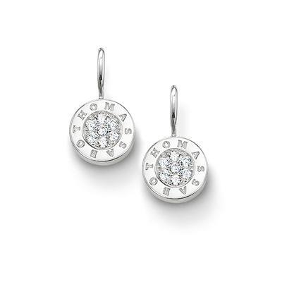 Buy Thomas Sabo Silver CZ Round Drop Earrings