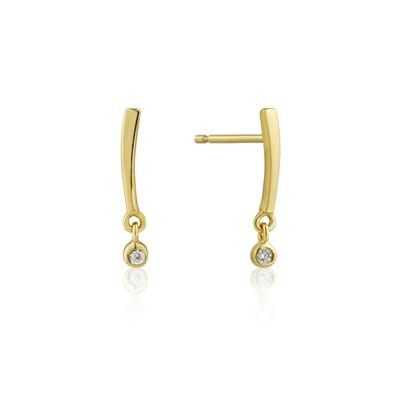 Buy Ania Haie Touch of Sparkle Gold Bar Earrings