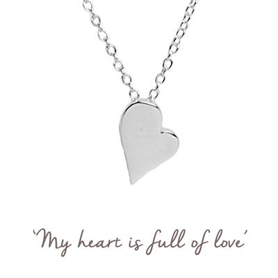 Buy Heart Mantra Necklace in Silver