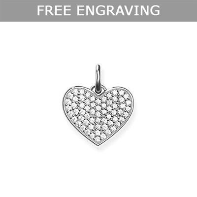 Buy Thomas Sabo Rose Gold Heart Red CZ Pave Pendant