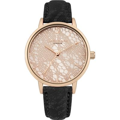 Buy Daisy Dixon Rose Gold Mae Lace Watch