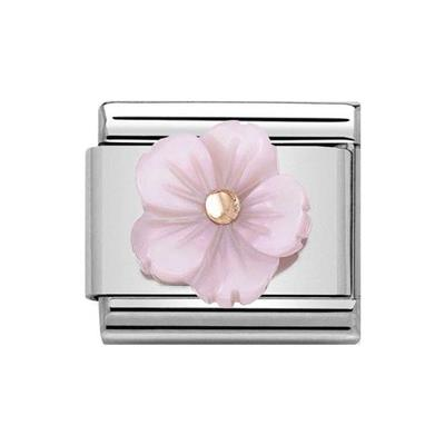 Buy Nomination Classic Rose Gold Symbols Violet Mother of Pearl Flower Charm