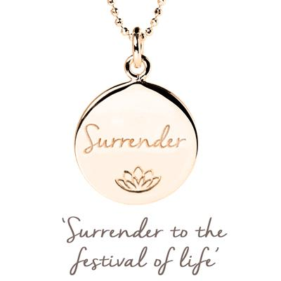 Buy Mantra Persia Lawson Surrender Necklace in Rose Gold