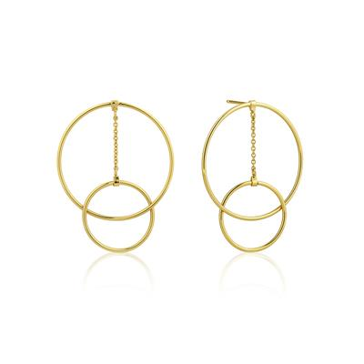 Buy Ania Haie Modern Minimalism Gold Double Hoop Earrings