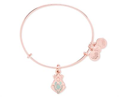 Buy Alex and Ani Frog Prince Bangle in Shiny Rose Gold Finish