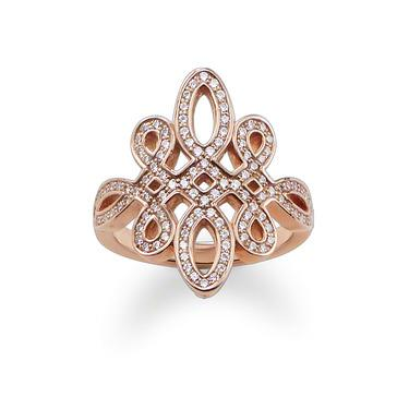 Buy Thomas Sabo GLAM & SOUL Rose Gold Love Knot Ring Size 54