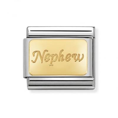 Buy Nomination Gold Nephew Plaque Charm