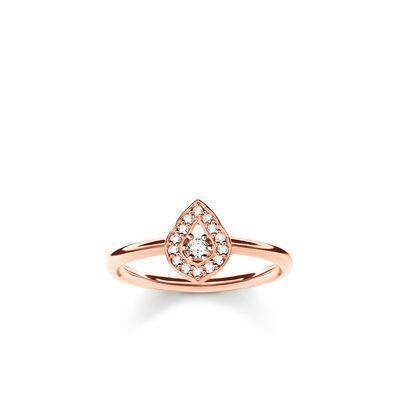 Buy Thomas Sabo Fatima's Garden Rose Gold Water Drop Ring Size 52