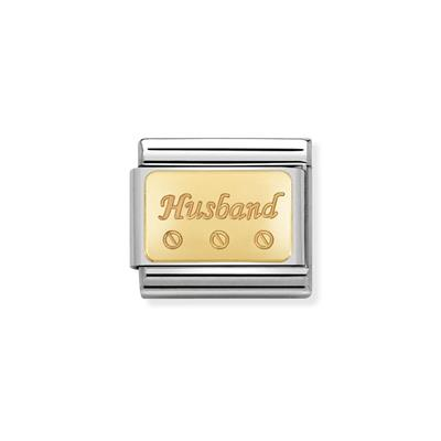 Buy Nomination Gold Husband Plaque Charm