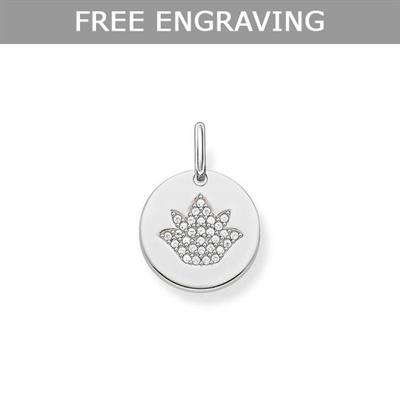 Buy Thomas Sabo CZ Lotus Coin Pendant