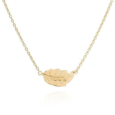 Buy Daisy Mulberry Leaf Gold Necklace