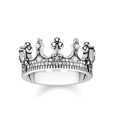 Buy Thomas Sabo Silver Crown Ring 54