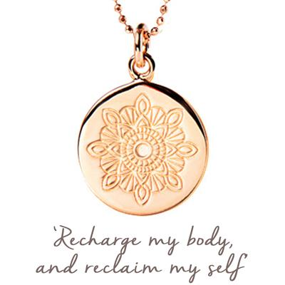 Buy Mantra Julie Montagu Recharge Necklace in Rose Gold