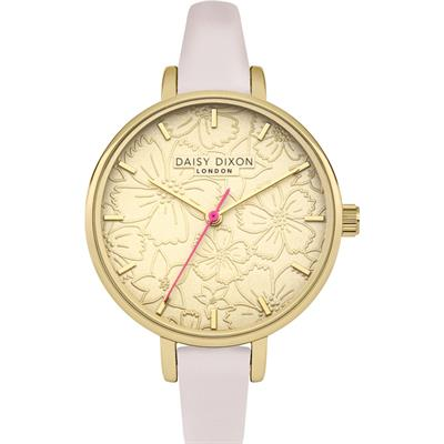 Buy Daisy Dixon Pink Leather Gold Phoebe Watch