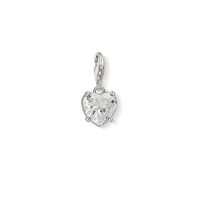 Buy Thomas Sabo Silver CZ Heart Charm