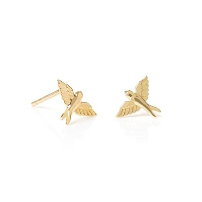 Buy Daisy Gold Bird Studs