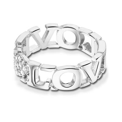 Buy Take What You Need Silver Toned Love Ring 56