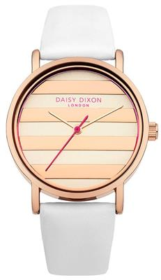 Buy Daisy Dixon Poppy Rose Gold and White Strap
