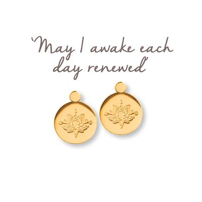 Buy Mantra Lotus Renewed Earrings in Gold