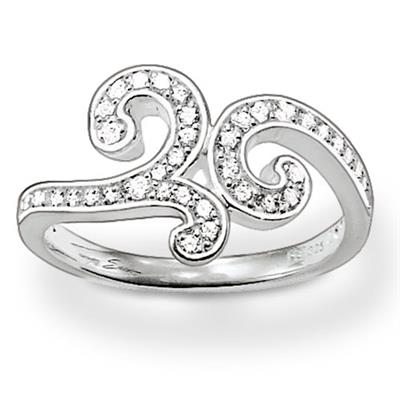 Buy Thomas Sabo Silver Swirl Ring