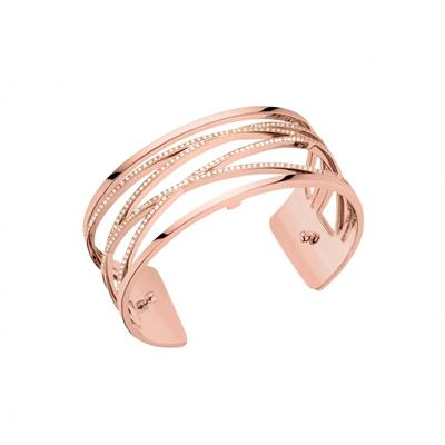 Buy Les Georgettes Medium Rose Gold CZ Liens Cuff Bangle