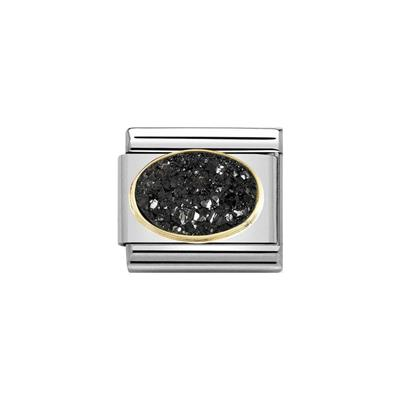 Buy Nomination Drusie Black Crystal Charm