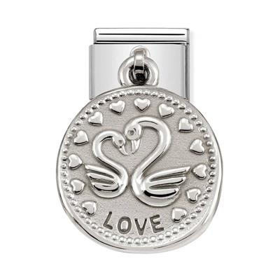 Buy Nomination Silver Swan Love Charm