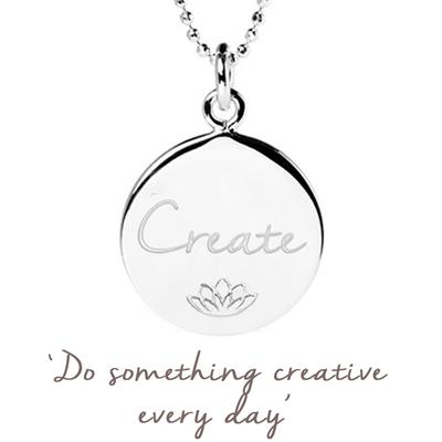 Buy Mantra Emily Quinton Create Disc Necklace in Sterling Silver