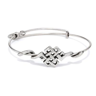 Buy Alex and Ani Endless Knot Wrap in Rafaelian Silver Finish